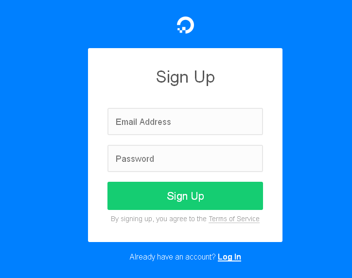 digital ocean new account