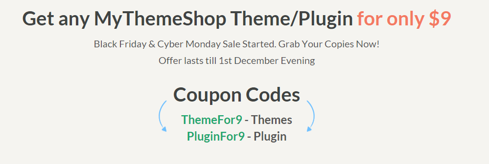 MyThemeShop Black Friday Sale 2017 | Get Any Theme at $19