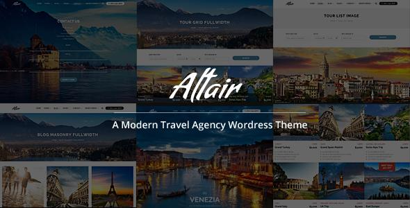 Altair Best WordPress Travel Theme