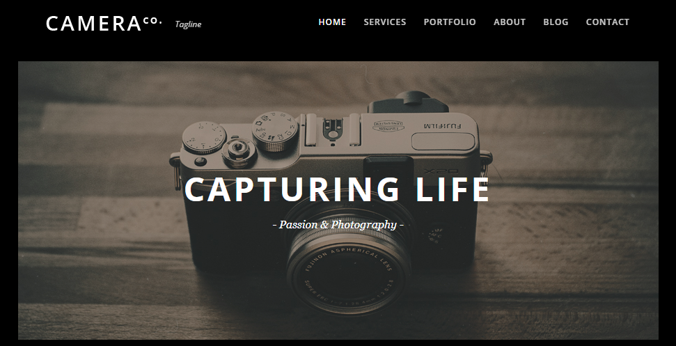 Camera WordPress Theme