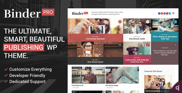binderpro theme for wordpress travel blogs
