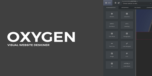 Oxygen WordPress Theme Builder Plugin