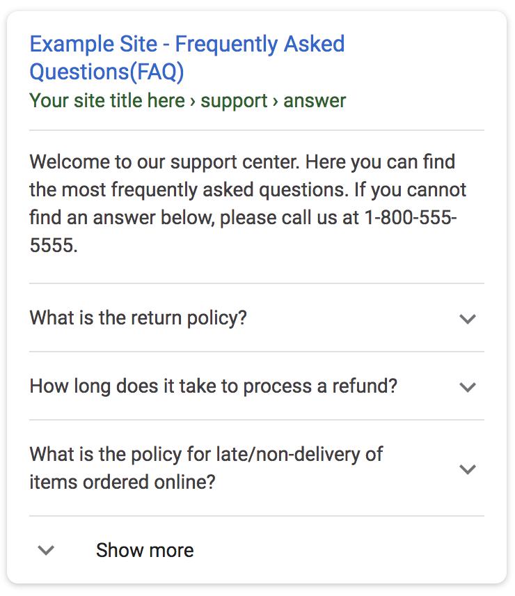 schema google search