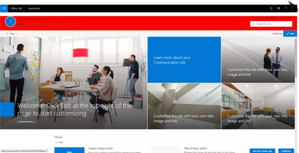 sharepoint site example