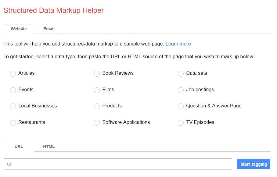 structured markup tool