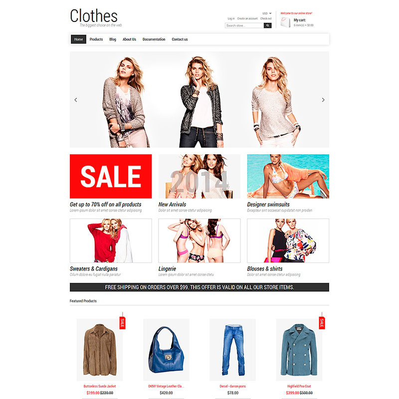 Clothes - Fashion Store Responsive Shopify Theme