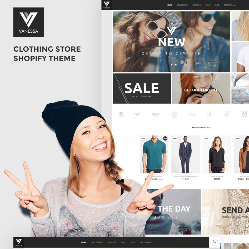Vanessa - Clothing Store Shopify Theme