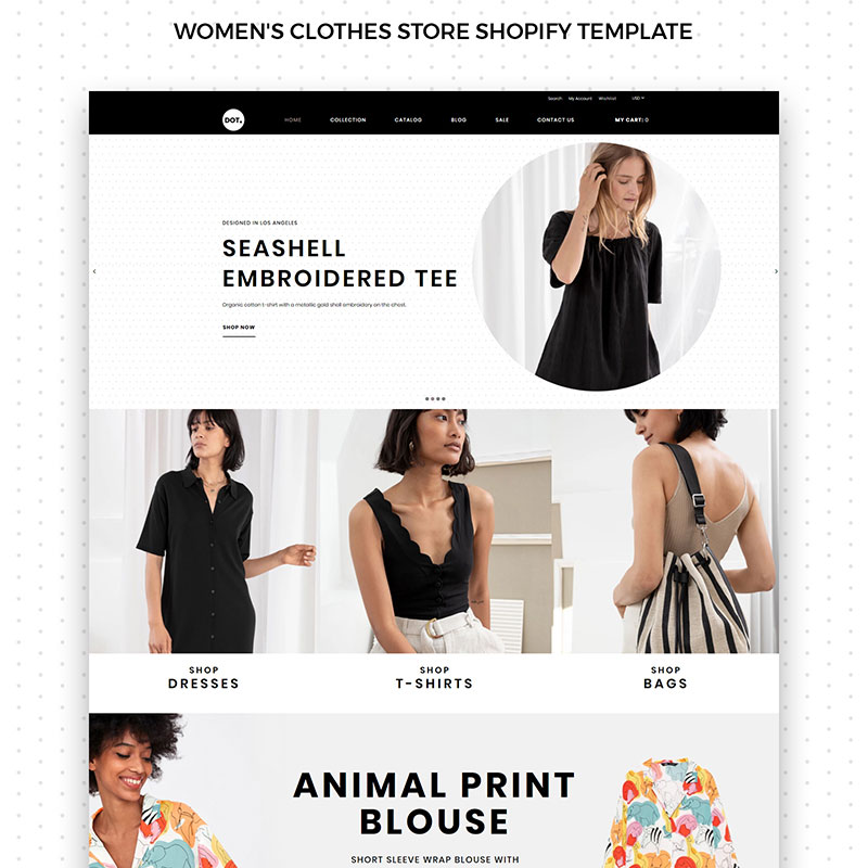 DOT Women's Fashion & Clothing eCommerce Elegant Shopify Theme