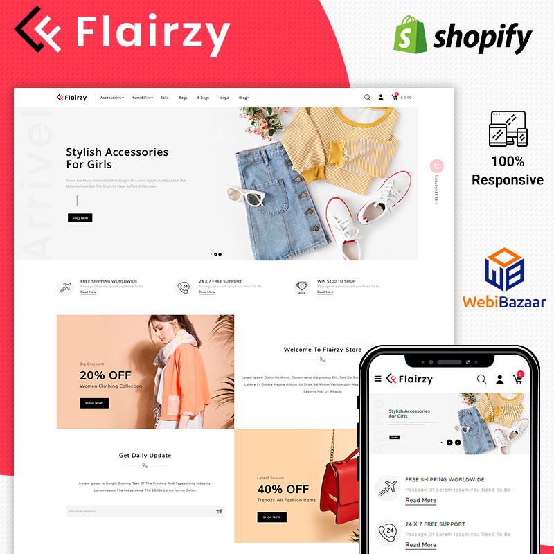 Flairzy - Fashion Shopify Theme